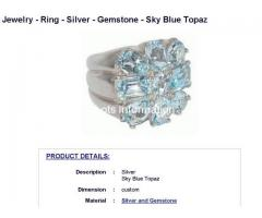 Jewelry - Ring - Silver - Gemstone - Sky Blue Topaz