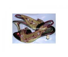 Ladies shoes, sandals, embroidery sandals, beaded sandals